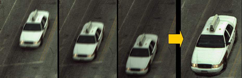 Deblurring images of a moving vehicle