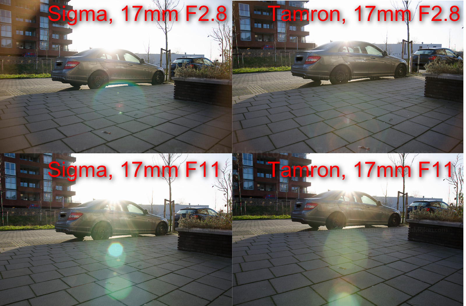 Review Sigma 17 50 F28 Os Vs Tamron Vc Francoismalan Sp 50mm F 28 Xr Di Ii Ld Aspherical If Canon Eos Note The Bright Reverse Vignetting Like Effect That Both And To A Lesser Extent Display At 17mm