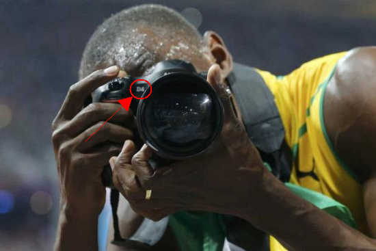 Oh, in case you were wondering... Usain uses a Nikon D4 (B&H) with Nikkor 14-24mm F/2.8 G ED (B&H)  :P Image: Reuters.