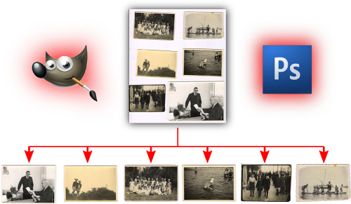 How to batch separate & crop multiple scanned photos